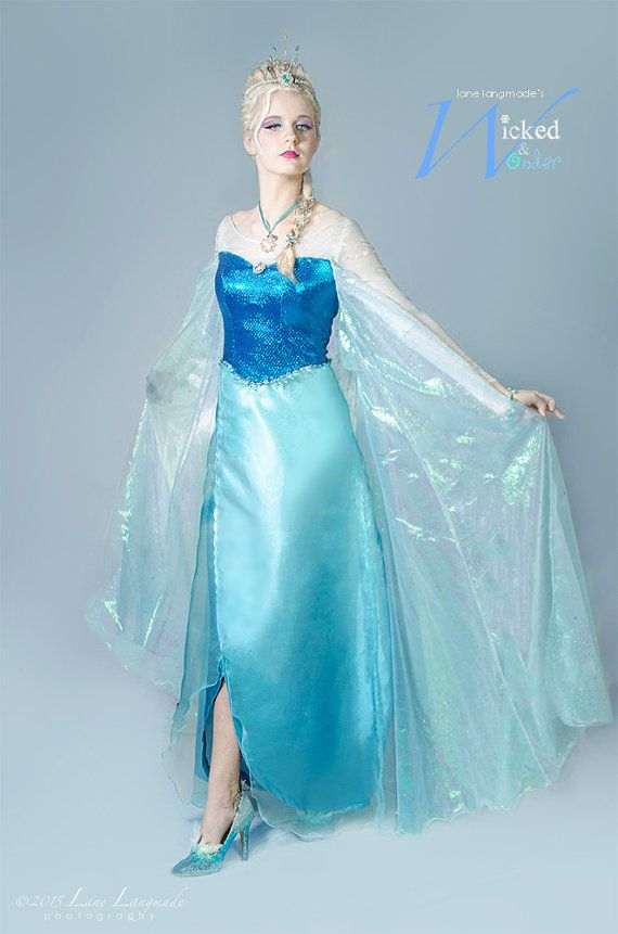 ELSA DRESS for Adults and teens Custom Frozen by wickedandwonder