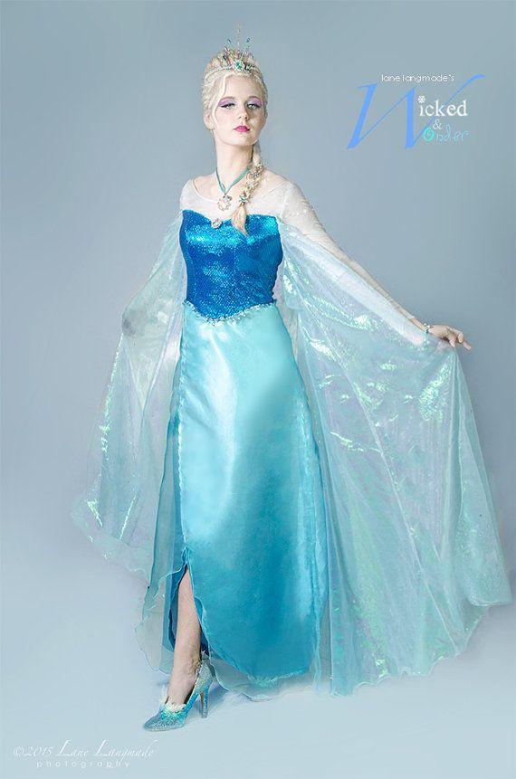 ELSA DRESS for Adults and teens Custom Frozen by wickedandwonder