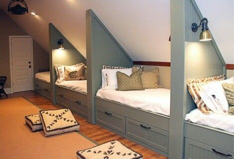 Attic room with such good use of space
