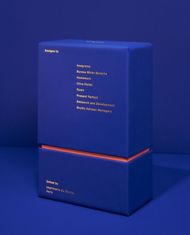"Paris based printer ""Impremerie du Marais"" asked D&J to art direct the second edition of its Notebook Project. Not only responsible for the packaging and trappings, the studio was free to invite a beautiful line up of international connoisseurs of our choice: Anagrama, Bureau Mirko Borsche, Homework, Oliva Partel, Ouwn, Present Perfect, Research and Development, Studio Adriaan Mellegers"