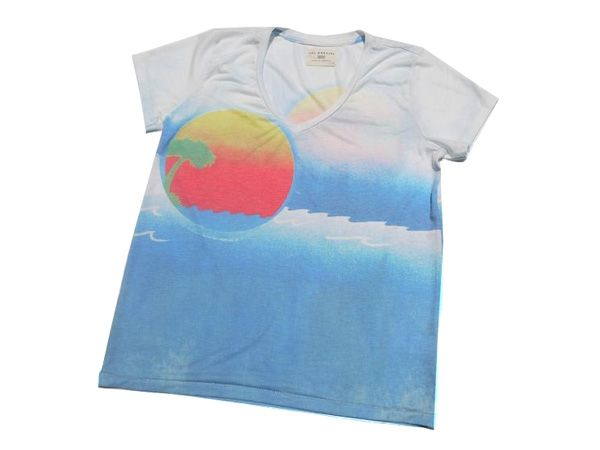 【楽天市場】ソルエンジェルス SOL ANGELES Tシャツ Vネック 半袖 LAブランド 海外セレブ インポート 西海岸 カリフォルニア V-NECK T-SHIRT -BLUE- -Lady's-:Blue in Green