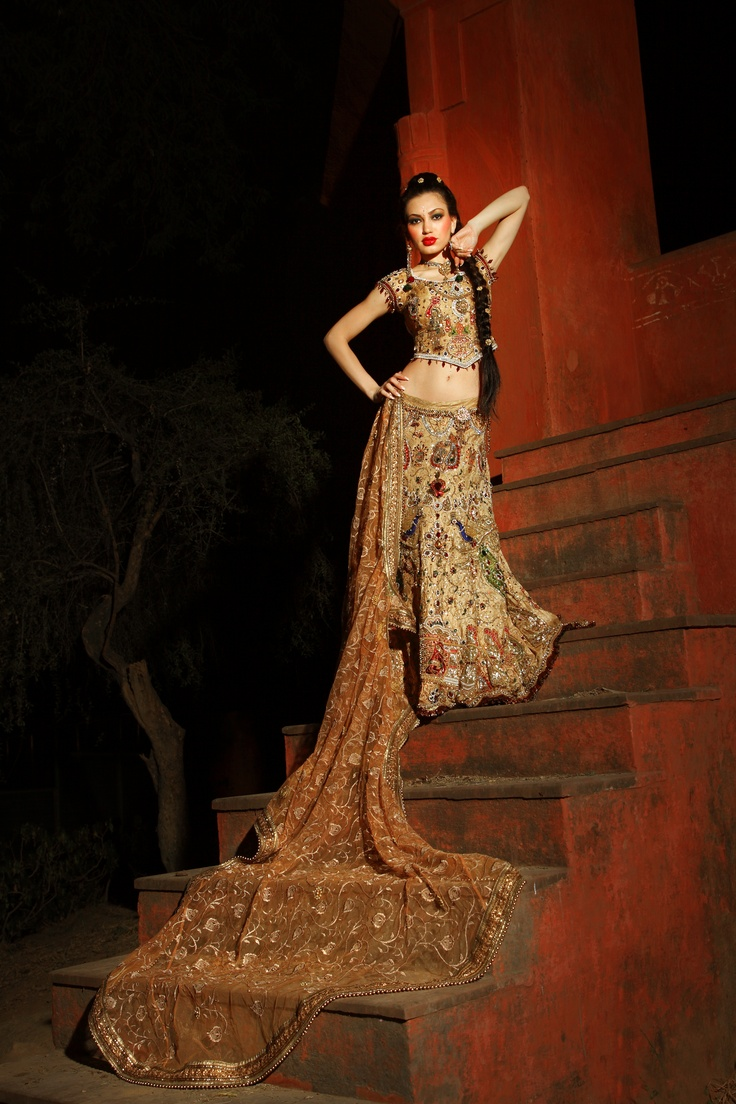 Make your dream come true with this Story Concept Bridal Lehenga.