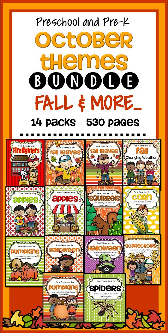 October Calendar Kindergarten : Best ideas about preschool monthly themes on pinterest