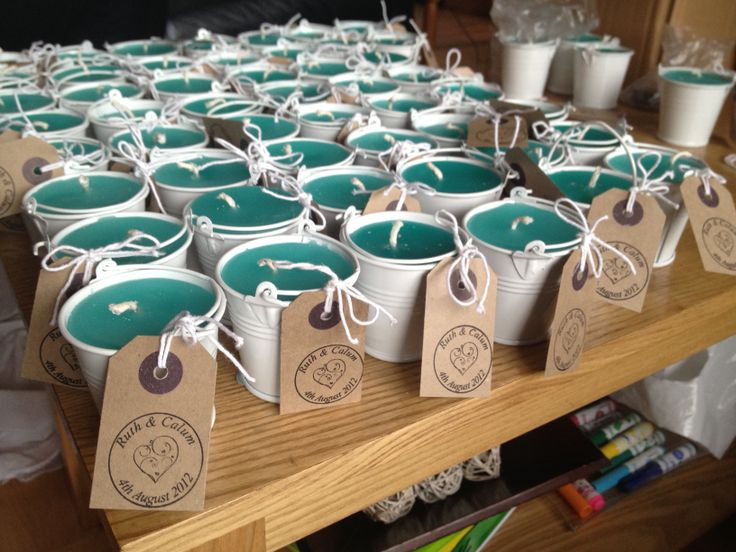 Ruth's wedding - Homemade candle favours