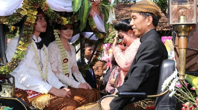 Gibran Rakabuming Raka and Selvi Ananda Wedding Day, 11-06-15.First son of Jokowi (President of Indonesia)