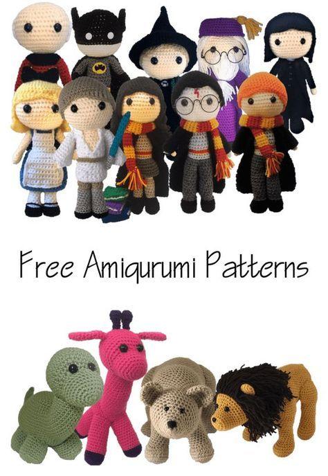 Free Amigurumi Patterns Harry Potter Star Trek Batman Bear Lion ...