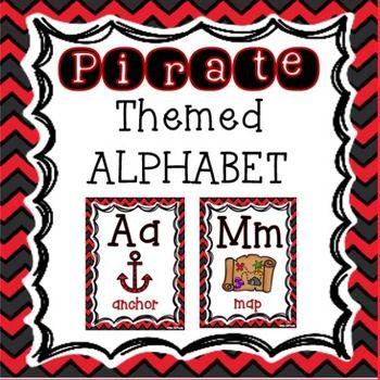 Pirates Classroom Theme - Alphabet