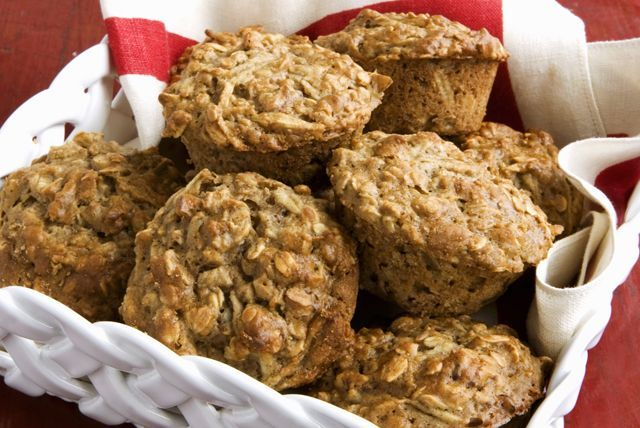 Cinnamon, Apple and Oat Muffins