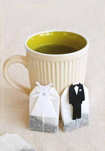 """I love this for a wedding favor. The box would say """"Something old; something new, something from us that you can brew."""""""