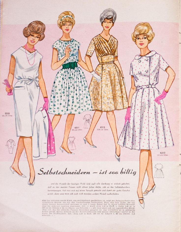Mode und Schnitt Heft 063/1961  Vintage German sewing magazine from my collection.