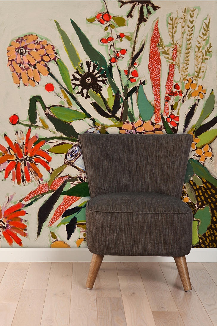 Lulie Wallace Flowers For Nora Wall Mural: Wallace Flowers, Nora Wall, Urban Outfitters, Luli Wallace Murals, Lulie Wallace, Art, Urbanoutfitt With, Bedrooms Wall, Kids Wall Murals