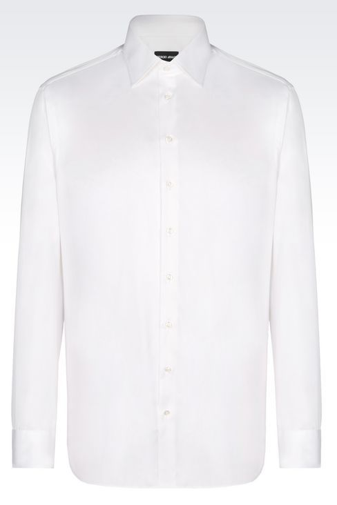 SHIRT IN TWILL: Shirts Men by Armani - 1