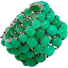 .: Sidney Garber, Cuffs Bracelets, Beads Bracelets, Prase Cuffs, Emeralds Green, Wish Lists, High Prase, Chrysopra High, Garber Chrysopras