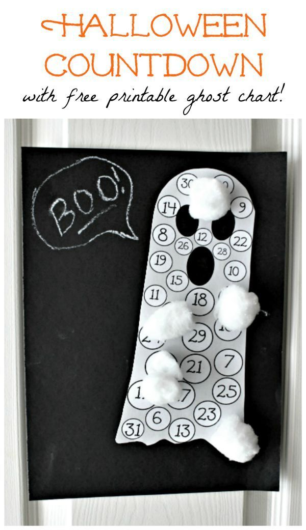 Grab this FREE printable that combines sensory & counting for a fun Halloween countdown activity!