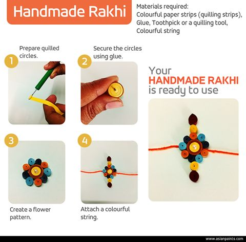 Raksha Bandhan is day which tugs at your heart strings and celebrates a bond that is beyond words. This time around, why don't you add a personal touch to this occasion with a handmade Rakhi? Try it out and tell us how much your brother loved it! #DIY