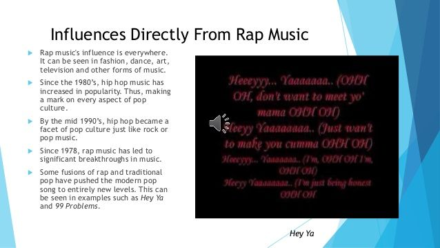 hip hops affects on society Although hip hop culture has made its way through much of the world, there are still some places where you wouldn't expect hip hop music to flourish, and countries like colombia, yemen, cambodia.