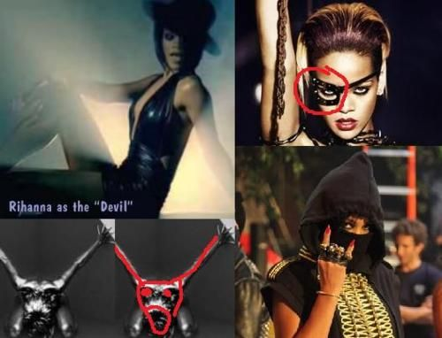 Rihanna Illuminati Symbols -Contact your favorite celebrities free at StarAddresses.com