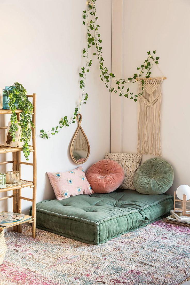 Dhel Double Cushion - SKLUM Home Yoga Room, Zen Room, Room Decor Bedroom, Living Room Decor, Aesthetic Room Decor, Cozy Room, Home Room Design, Home And Deco, House Rooms