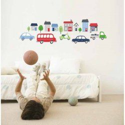 Little Boo-Teek - Decals and Stickers Speckled House Wall Decal - On The Move $42.95 www.littlebooteek.com.au #littlebooteekau #presents #kids #bedroom #playroom #decals #wallstickers