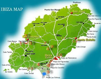 All you need to your Ibiza trip vacation: Ibiza Clubs Map & Info ...