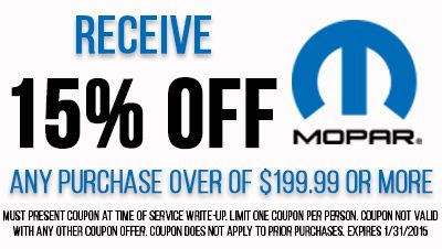 Mopar discount coupons