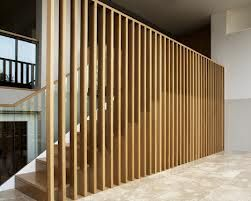 Timber Slatted Screen To Staircase Walls Pinterest