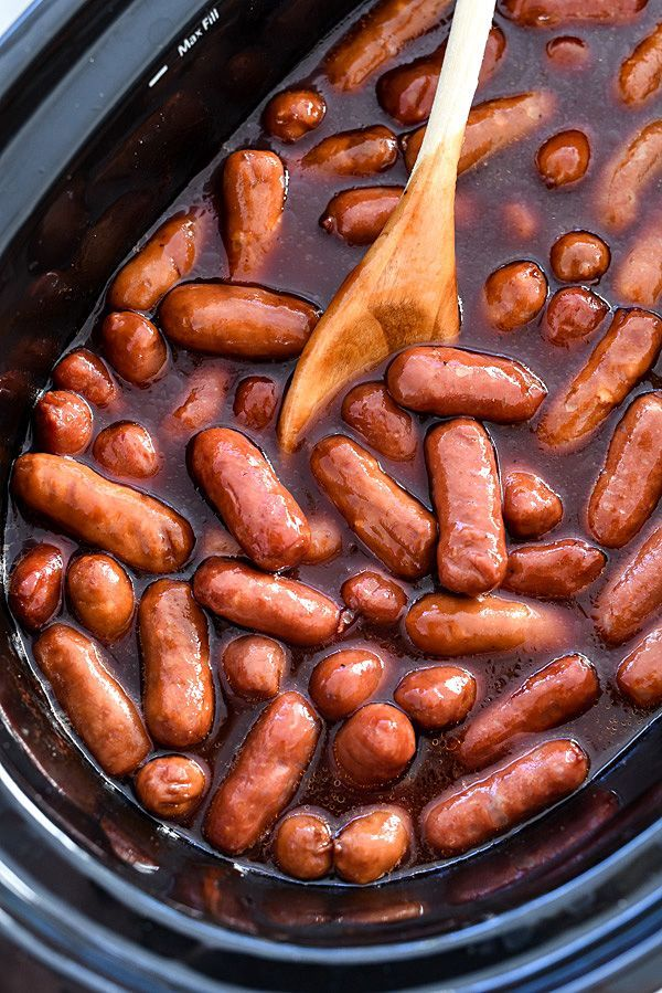 This easy and addictive mini sausage appetizer is made even simpler thanks to the crock pot and is perfect for game days and parties.