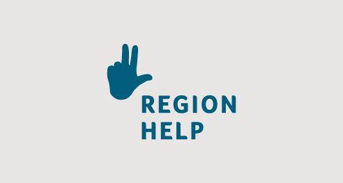 Region help s.r.o., Poradenství pro rozvoj měst a obcí ČR, Logotyp a vizuální styl (2016) / Advice for Development of Cities and Towns Logotype and design visual style (2016)