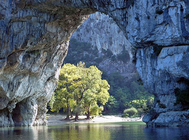 Vallon Pont d'Arc (photograph by horlo, via Flickr) - Our swimming hole :0)