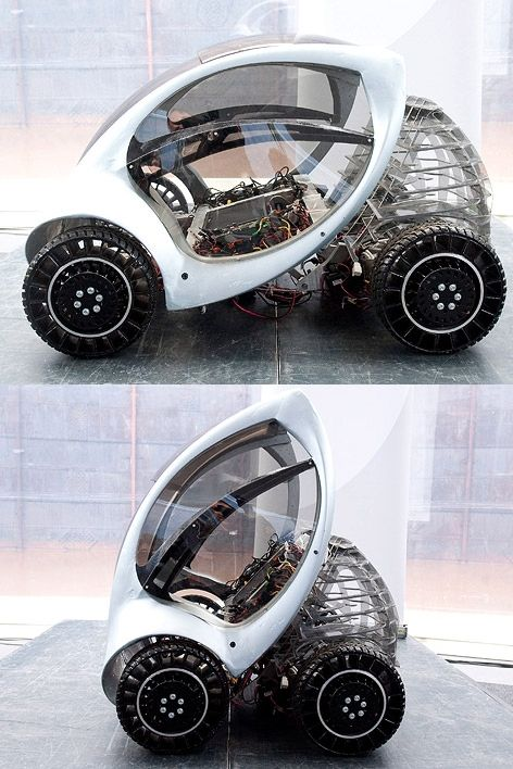 HIRIKO - full electric folding car YES .. here a very good design, but sometimes , perhpas no so useful as 1 st concept is just to make it park... an egged one, well designed