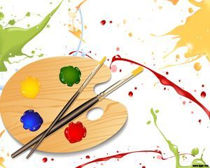 Painting Palette design for Microsoft PowerPoint