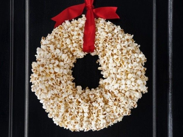 Ghirlanda di pop corn #natale #xmas #christmas #decorations #handmade #crafts #DIY