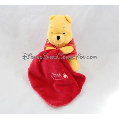 Peluche Winnie l'ourson DISNEY mouchoir rouge luminescent brille dans la nuit