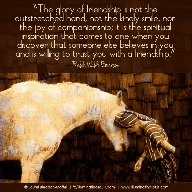 Emerson quote on friendship. Using this in my graduation speech!