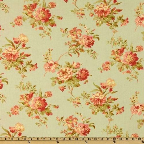 This Is A Great Vintage Shabby Chic Floral Fabric