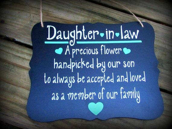 Daughter In Law Gift I love my daughter in law by Sammieslettering