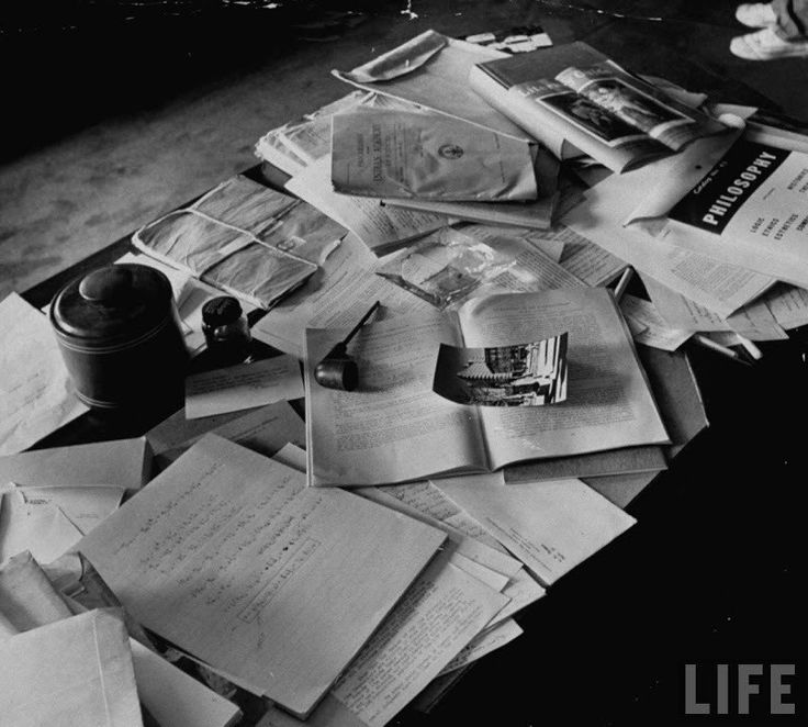 Einstein's desk photographed a day after his death. This photo taken mere hours after Einstein died on April 18, 1955 in Princeton, New Jersey. . His funeral and cremation were intensely private affairs, and only one photographer managed to capture the events of that extraordinary day: LIFE magazine's Ralph Morse.