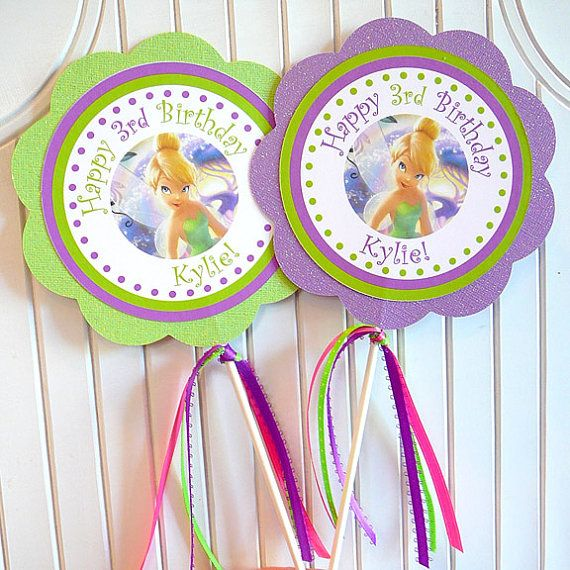 Tinkerbell Birthday Party  Set of 2 Centerpieces by farmerbaby    **Possibly Make These For Centerpieces For Savannah's Party