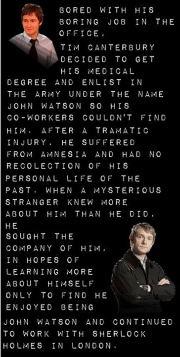 The Truth Behind John Watson and Tim Canterbury. I love it! What happened to Dawn!? Oh no!