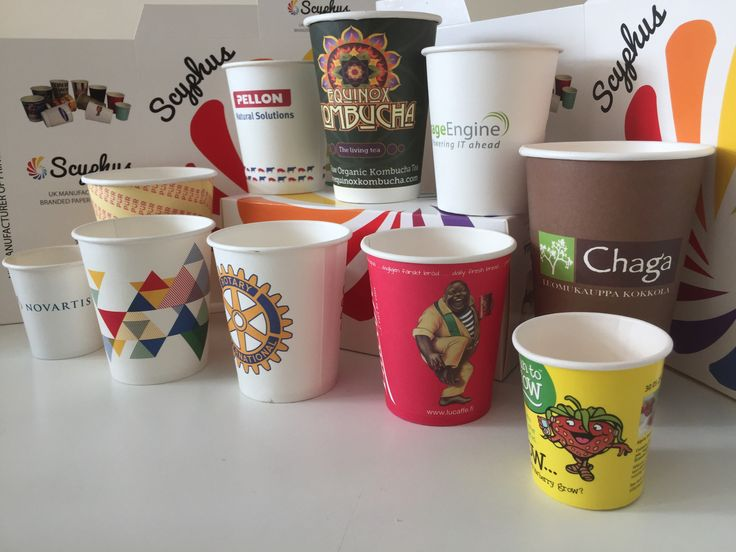 Printed paper cups by Scyphus