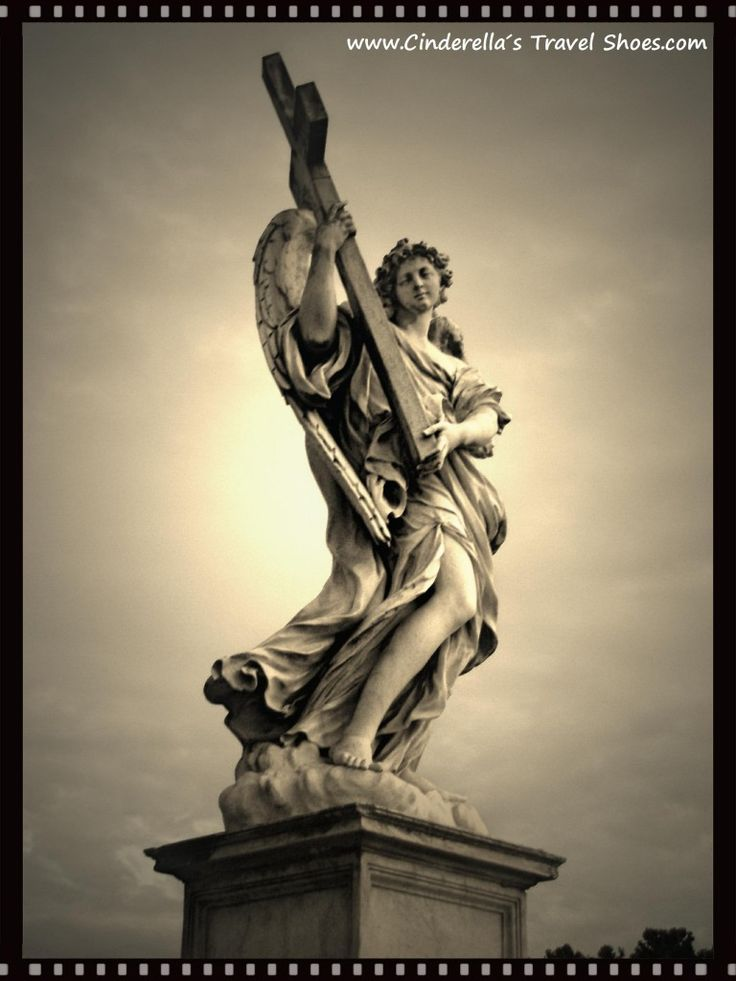 """Ponte Sant'Angelo - """"Bridge of Angels"""" in Rome"""
