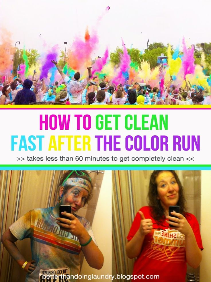Better Than Doing Laundry: How To Get Clean FAST After The Color Run