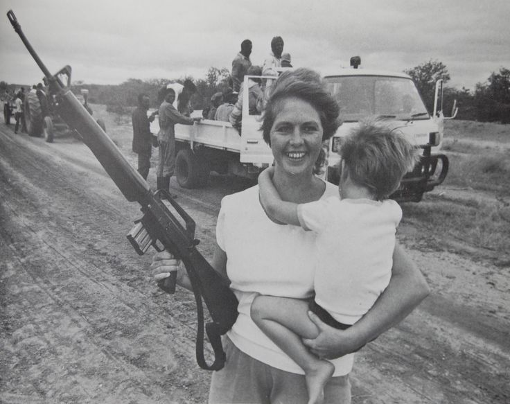 Mother and child in Rhodesia.