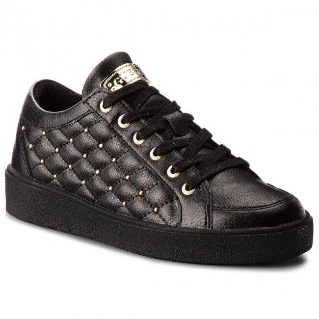 Sneakersy Guess Flgln3 Lea12 Black Black Shoes Guess