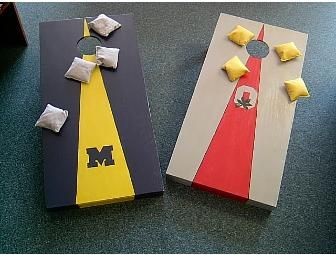 Ohio State-Michigan Cornhole Game Boards and Bags