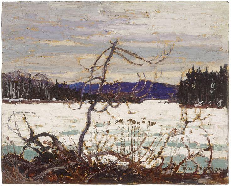 Tom Thomson Catalogue Raisonné | Spring Ice, Canoe Lake, Spring 1915 (1915.12) | Catalogue entry