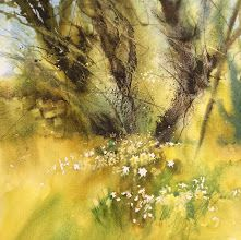 Demo piece created at Patchings Art Festival 2015 on Saunders Waterford paper by Ann Blockley. http://annblockley.com/