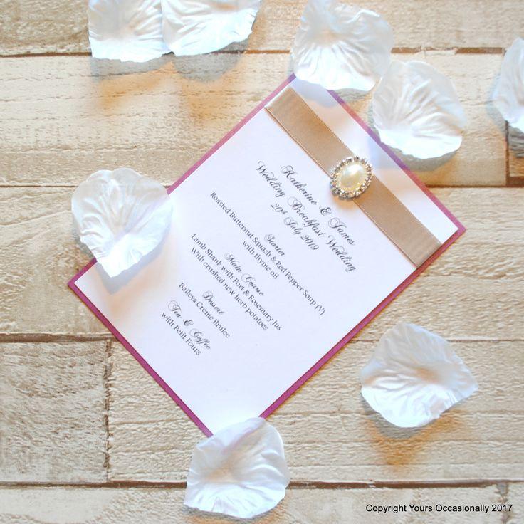 mini book wedding invitations uk%0A Pearl Passion Menu Card