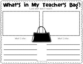 What's in My Teacher's Bag {Making Inferences}