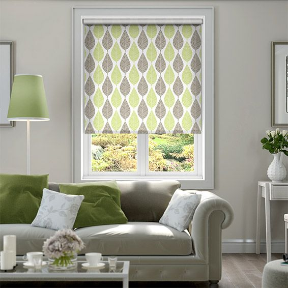 Choices Winter Leaf Spring Green Roller Blind From Blinds